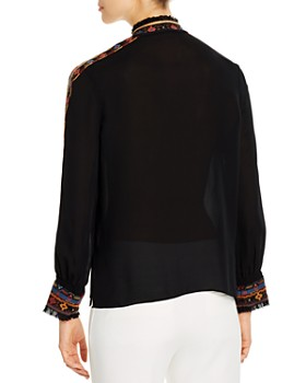 Kobi Halperin - Owen Embroidered Silk Blend Blouse