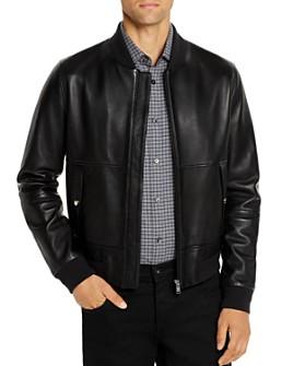 BOSS - Leather Bomber Jacket