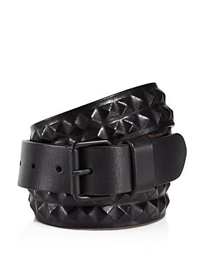 Allsaints Men's Pyramid Stud Leather Belt