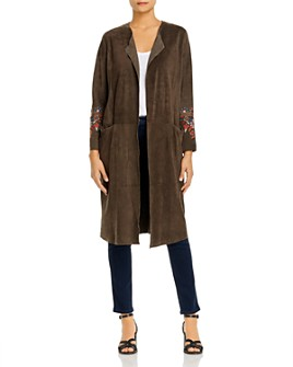 Johnny Was - Lailani Embroidered Suede Duster Jacket