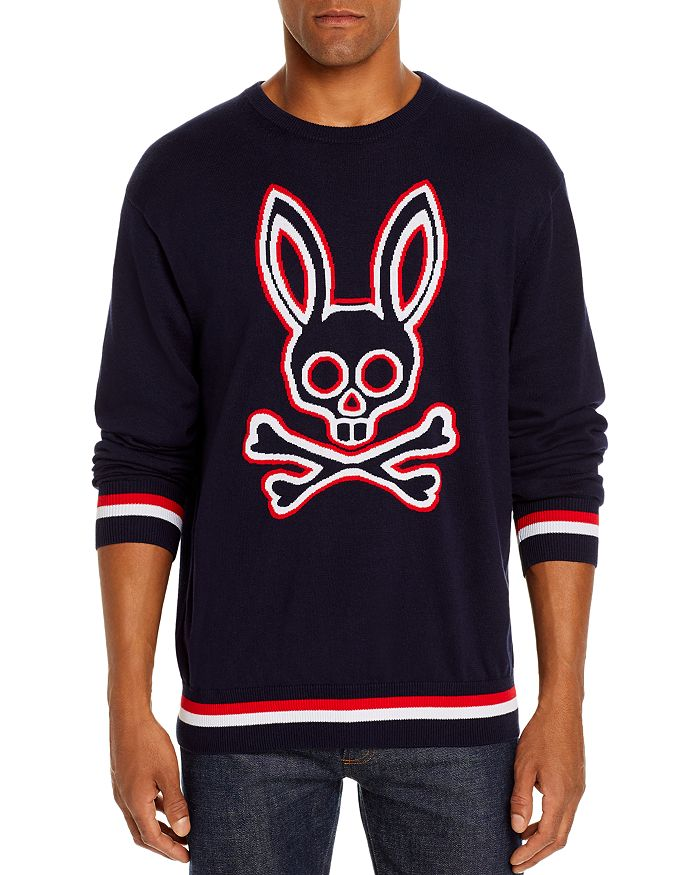 Psycho Bunny - Logo-Intarsia Merino Wool Sweater