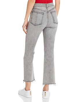 rag & bone - Nina High-Rise Ankle Flare Jeans in Broderick
