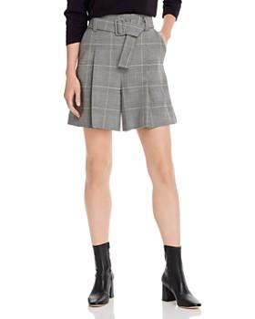 Marella - Marotta Belted Plaid Mini Shorts