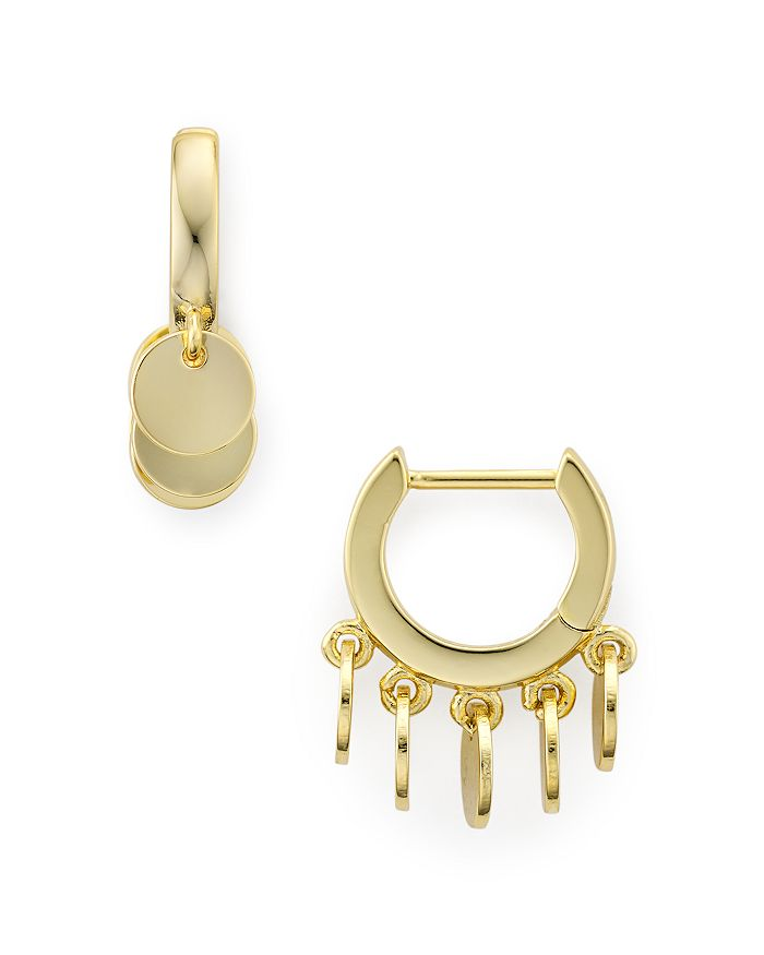 Jules Smith - Multi-Disc Huggie Hoop Earrings