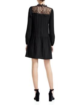 Maje - Rockette Pleated Lace-Inset Mini Dress