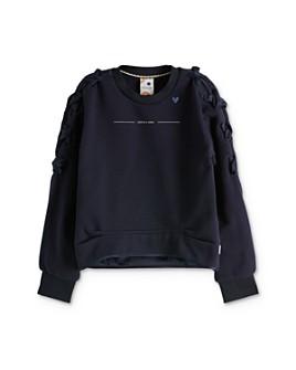 Scotch R'Belle - Girls' Crisscross-Ribbon Sweatshirt - Little Kid, Big Kid