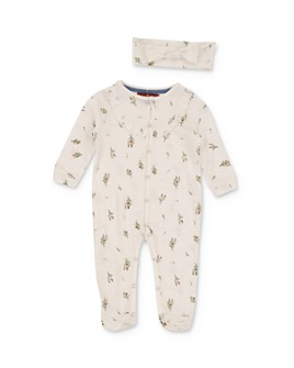 7 For All Mankind - Girls' Floral Footie & Headband Set - Baby