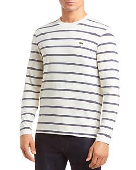 Lacoste - Long-Sleeve Striped Heavy-Weight Tee