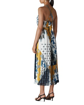 Whistles - Pleated Scarf-Print Dress