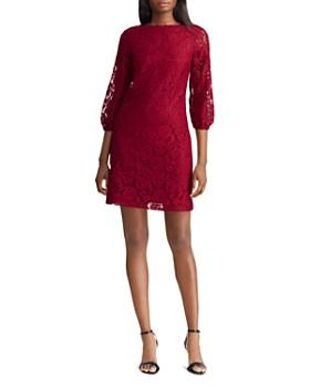 Ralph Lauren - Lace Peasant-Sleeve Dress