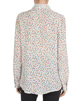 The Kooples - Multicolor Heart-Pattern Shirt