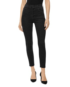 J Brand - Lillie High Rise Cropped Leopard-Printed Jeans in Savannah