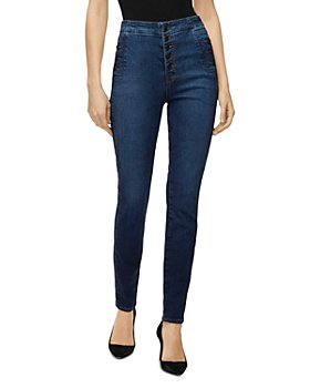 J Brand - Natasha Button-Fly Sky-High Skinny Jeans in Equalize