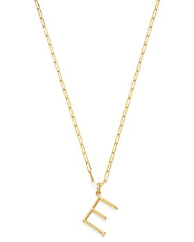 Zoe Lev - 14K Yellow Gold Large Nail Initial Necklace, 18""