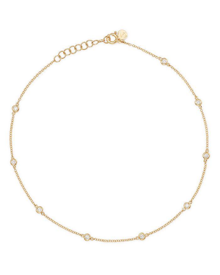 f36763b4e519e 14K Yellow Gold Diamond by the Yard Ankle Bracelet