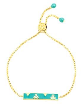 Freida Rothman - Harmony Bar Slider Bracelet in 14k Gold-Plated Sterling Silver