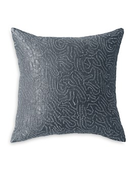 "Donna Karan - Current Metallic Sashiko Decorative Pillow, 18"" x 18"""