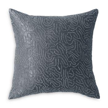 """Donna Karan - Current Metallic Sashiko Decorative Pillow, 18"""" x 18"""""""