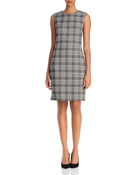 Theory - Sleeveless Houndstooth Sheath Dress - 100% Exclusive