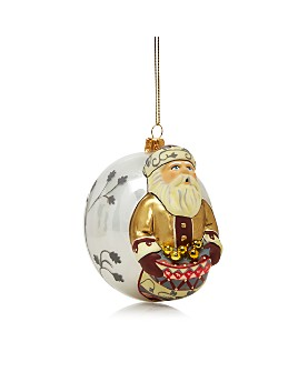 Vaillancourt - Father Christmas Glass Ball Ornament
