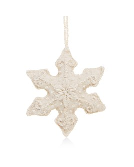 Melange - Embroidered Snowflake Ornament