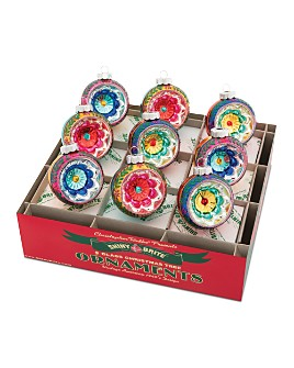 "Christopher Radko - Shiny Brite™ 2.5"" Reflector Rounds Ornaments, Box of 9"
