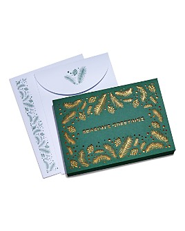 Masterpiece - Glitter Boughs & Pine Cones Laser Cut Greeting Cards, Box of 12
