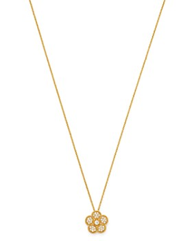 Roberto Coin - 18K Yellow Gold Daisy Diamond Pendant Necklace, 17.5""