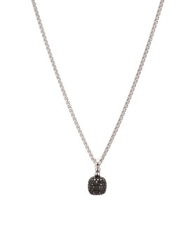"""Bloomingdale's - Black Diamond Round Drop Pendant Necklace in Sterling Silver, 0.21 ct. t.w., 18"""" - 100% Exclusive"""