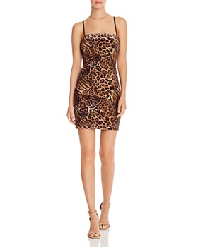 Tiger Mist - Franki Leopard Print Velour Dress