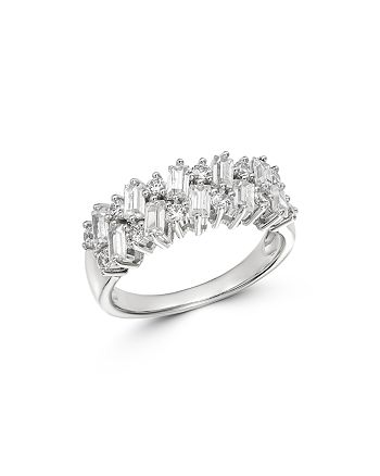 Bloomingdale's - Round & Baguette Diamond Band in 14K White Gold, 1.0 ct. t.w. - 100% Exclusive