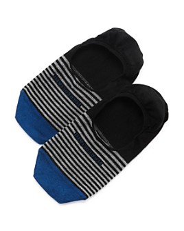 Marcoliani - Invis Touch Color-Block Striped No-Show Socks