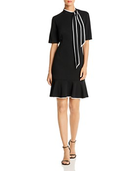 Adrianna Papell - Tie-Neck Shift Dress