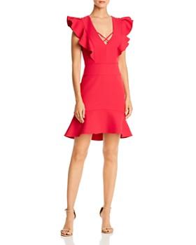 BCBGMAXAZRIA - Ruffle Crepe Cocktail Dress