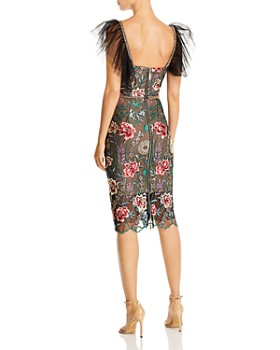 BRONX AND BANCO - Melia Floral-Embroidered Illusion Dress