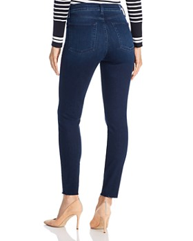 7 For All Mankind - High-Waisted Skinny Ankle Jeans in Deep Waters