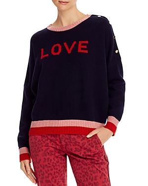 Sundry Sweaters LOVE BUTTON-SLEEVE SWEATER