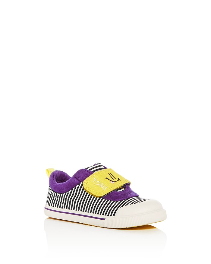 TOMS - Unisex Doheny Stripe Smiley Low-Top Sneakers - Baby, Walker, Toddler