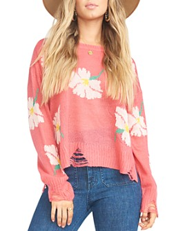 Show Me Your MuMu - Seco Distressed Floral Sweater