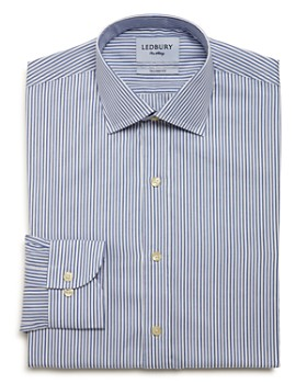 Ledbury - Anderson Stripe Slim Fit Dress Shirt