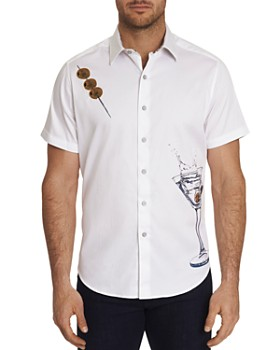 Robert Graham - Dean Short-Sleeve Martini-Print Classic Fit Shirt