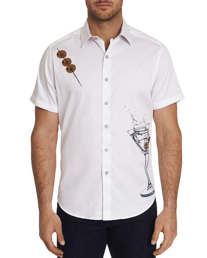 Robert Graham - Dean Short-Sleeve Martini-Print Classic Fit Shirt