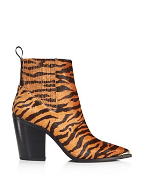 Kenneth Cole - Women's West Side Pointed Toe Tiger-Print Booties