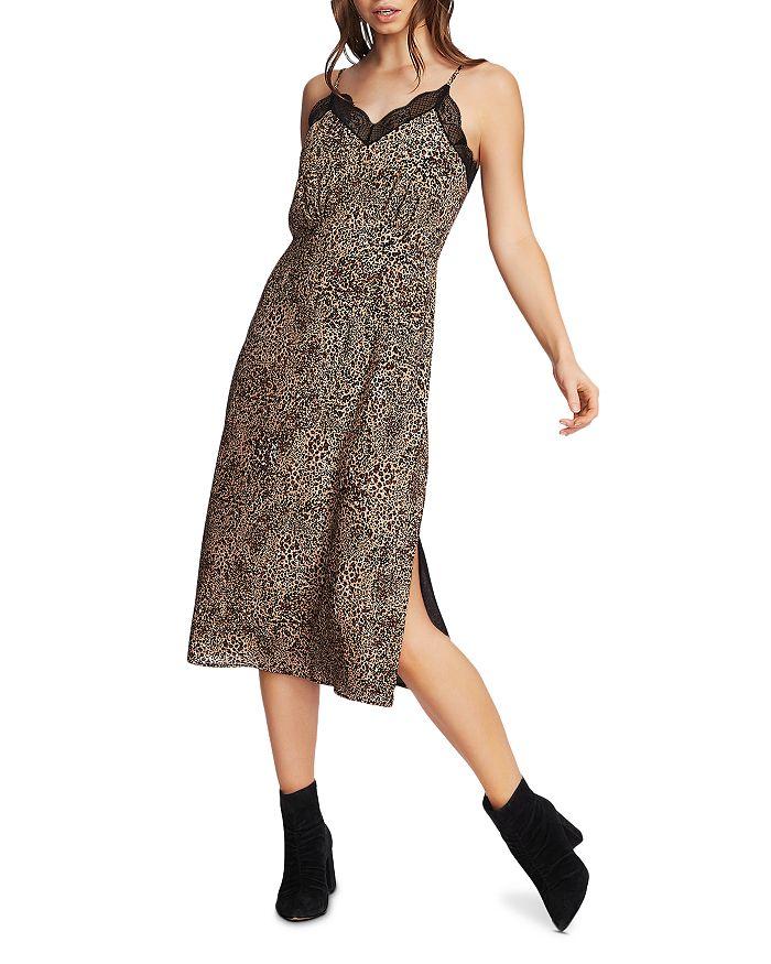 1.STATE - Leopard Print Slip Dress