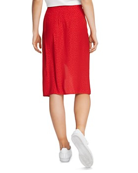 1.STATE - Ruffle Overlay Tonal Leopard Print Skirt