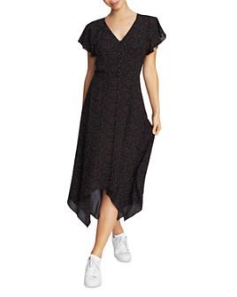 1.STATE - Pindot Print Midi Dress