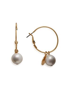 Aqua Cultured Freshwater Pearl & Coin Drop Hoop Earrings - 100% Exclusive