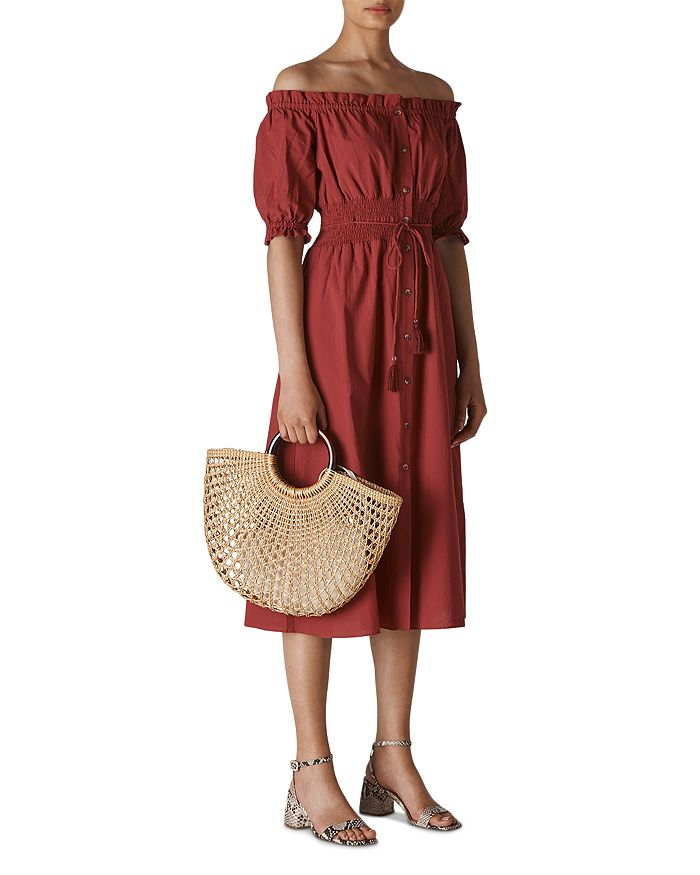 Whistles - Simma Smocked Off-the-Shoulder Dress