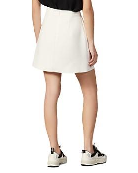 Sandro - Zoelle Asymmetric Button-Detail Mini Skirt