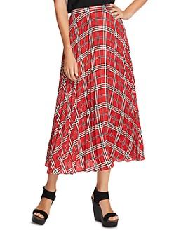 VINCE CAMUTO - Highland Plaid Pleated Midi Skirt - 100% Exclusive